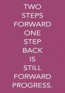 Two steps forward, one step back.